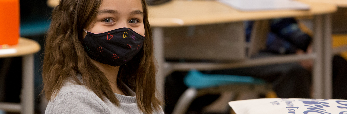 Phillips Student with Mask